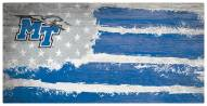 """Middle Tennessee State Blue Raiders 6"""" x 12"""" Flag Sign"""