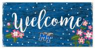 "Middle Tennessee State Blue Raiders 6"" x 12"" Floral Welcome Sign"