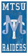"""Middle Tennessee State Blue Raiders 6"""" x 12"""" Heritage Logo Sign"""