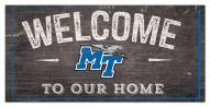 "Middle Tennessee State Blue Raiders 6"" x 12"" Welcome Sign"