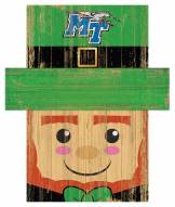 "Middle Tennessee State Blue Raiders 6"" x 5"" Leprechaun Head"