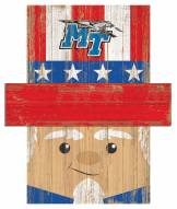 """Middle Tennessee State Blue Raiders 6"""" x 5"""" Patriotic Head"""
