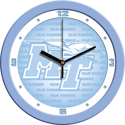 Middle Tennessee State Blue Raiders Baby Blue Wall Clock