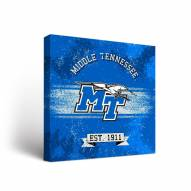 Middle Tennessee State Blue Raiders Banner Canvas Wall Art