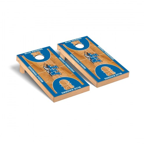 Middle Tennessee State Blue Raiders Basketball Court Cornhole Game Set