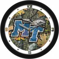 Middle Tennessee State Blue Raiders Camo Wall Clock
