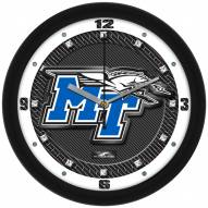 Middle Tennessee State Blue Raiders Carbon Fiber Wall Clock
