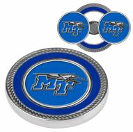 Middle Tennessee State Blue Raiders Challenge Coin with 2 Ball Markers