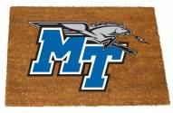 Middle Tennessee State Blue Raiders Colored Logo Door Mat