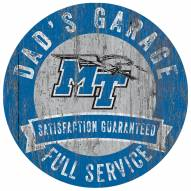 Middle Tennessee State Blue Raiders Dad's Garage Sign
