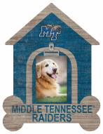 Middle Tennessee State Blue Raiders Dog Bone House Clip Frame
