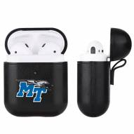 Middle Tennessee State Blue Raiders Fan Brander Apple Air Pods Leather Case