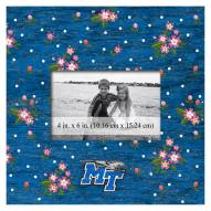 "Middle Tennessee State Blue Raiders Floral 10"" x 10"" Picture Frame"