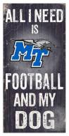 Middle Tennessee State Blue Raiders Football & My Dog Sign