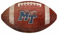 Middle Tennessee State Blue Raiders Football Shaped Sign