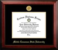 Middle Tennessee State Blue Raiders Gold Embossed Diploma Frame