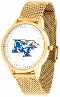 Middle Tennessee State Blue Raiders Gold Mesh Statement Watch