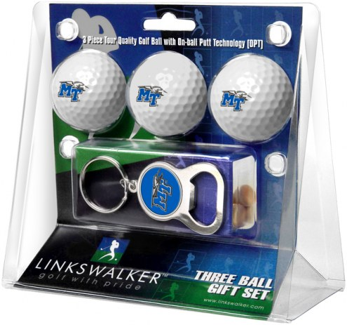 Middle Tennessee State Blue Raiders Golf Ball Gift Pack with Key Chain