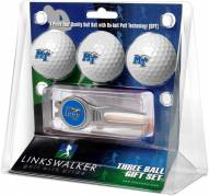 Middle Tennessee State Blue Raiders Golf Ball Gift Pack with Kool Tool