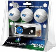 Middle Tennessee State Blue Raiders Golf Ball Gift Pack with Spring Action Divot Tool