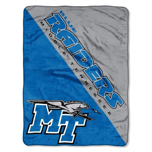 Middle Tennessee State Blue Raiders Halftone Raschel Blanket