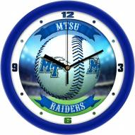Middle Tennessee State Blue Raiders Home Run Wall Clock