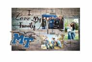 Middle Tennessee State Blue Raiders I Love My Family Clip Frame