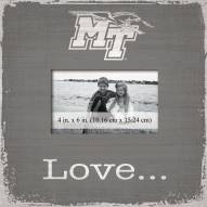 Middle Tennessee State Blue Raiders Love Picture Frame