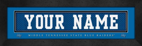 Middle Tennessee State Blue Raiders Personalized Stitched Jersey Print