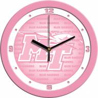 Middle Tennessee State Blue Raiders Pink Wall Clock