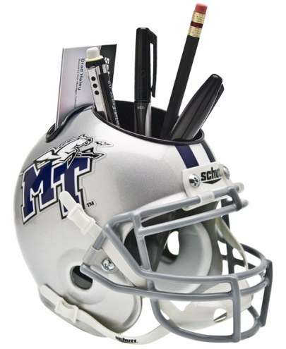 Middle Tennessee State Blue Raiders Schutt Football Helmet Desk Caddy