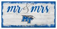 Middle Tennessee State Blue Raiders Script Mr. & Mrs. Sign