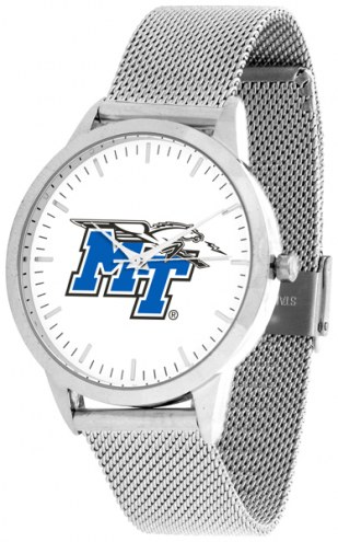 Middle Tennessee State Blue Raiders Silver Mesh Statement Watch