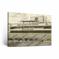 Middle Tennessee State Blue Raiders Sketch Canvas Wall Art