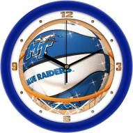 Middle Tennessee State Blue Raiders Slam Dunk Wall Clock