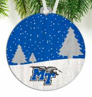 Middle Tennessee State Blue Raiders Snow Scene Ornament