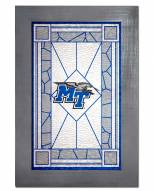 Middle Tennessee State Blue Raiders Stained Glass with Frame