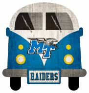 Middle Tennessee State Blue Raiders Team Bus Sign