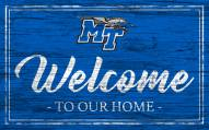 Middle Tennessee State Blue Raiders Team Color Welcome Sign