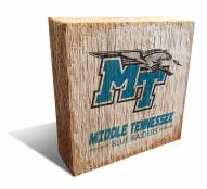 Middle Tennessee State Blue Raiders Team Logo Block