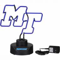 Middle Tennessee State Blue Raiders Team Logo Neon Lamp
