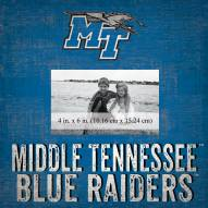 "Middle Tennessee State Blue Raiders Team Name 10"" x 10"" Picture Frame"