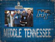 Middle Tennessee State Blue Raiders Team Name Clip Frame