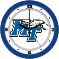 Middle Tennessee State Blue Raiders Traditional Wall Clock