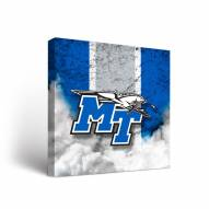 Middle Tennessee State Blue Raiders Vintage Canvas Wall Art