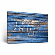 Middle Tennessee State Blue Raiders Weathered Canvas Wall Art