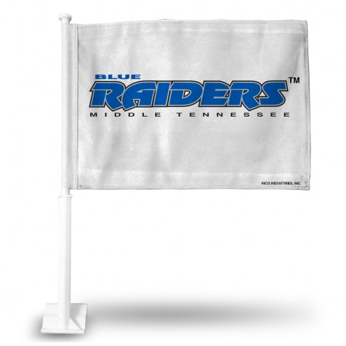 Middle Tennessee State Blue Raiders Car Flag