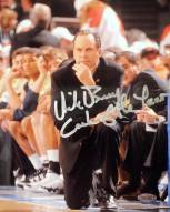"""Mike Brey On His Knees On The Sidelines Signed Vertical 8 x 10 Photo w/ """"Coach of the Year"""""""