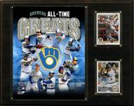 "Milwaukee Brewers 12"" x 15"" All-Time Greats Photo Plaque"