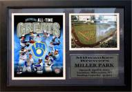 """Milwaukee Brewers 12"""" x 18"""" Greats Photo Stat Frame"""